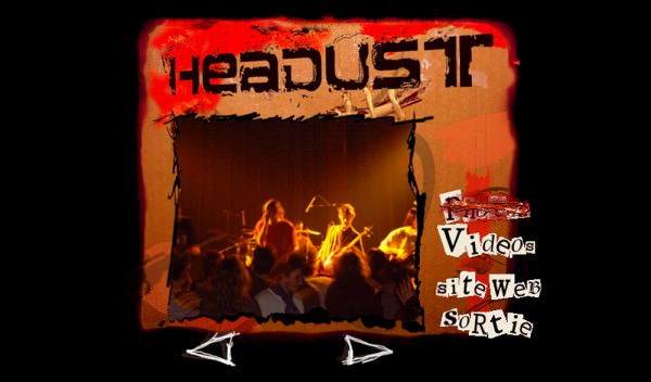 "CD-ROM de l'album du groupe ""Headust"""