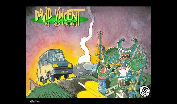 "CD-ROM d'un album du groupe ""David Vincent et ses Mutants"""