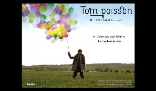 "CD-ROM pour l'album de ""Tom Poisson"""
